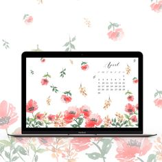 Whoop whoop! Download free April watercolor wallpapers now. It's pretty, fun and floral too. And there's one for every month!