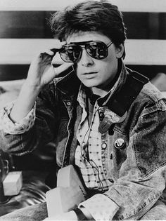 "Michael J. Fox en ""Regreso al futuro"", 1985"
