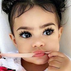 Cute Mixed Babies, Cute Black Babies, Beautiful Black Babies, Cute Little Baby, Pretty Baby, Cute Baby Girl, Beautiful Children, Cute Babies, Gorgeous Eyes