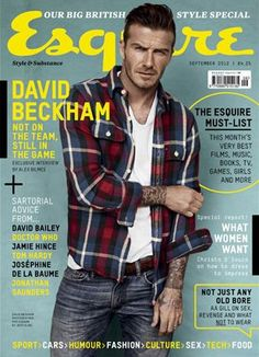 David Beckham looks great in Esquire UK 's September 2012 issue. Photographed by Josh Olins and styled by Clare Richardson , David takes. David Beckham, Gq Style, Male Style, Cosmopolitan, Esquire Uk, Bend It Like Beckham, David Bailey, Raining Men, Comme Des Garcons