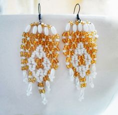 Free pattern for earrings Sunny Day