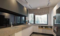Projekt domu Karat 5 156,82 m2 - koszt budowy - EXTRADOM Mediterranean Style Homes, Planer, Blinds, New Homes, Exterior, Windows, Curtains, House, Furniture