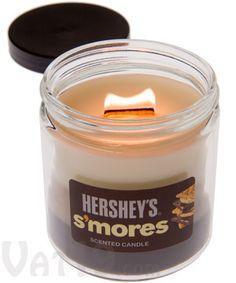 Hershey's S'mores Candle http://www.vat19.com/dvds/hersheys-smores-candle-crackling-wick.cfm