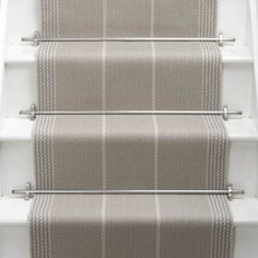 Products Runners for stairs and halls Neutral/Black Swanson: Pebble - Roger Oates Design House Stairs, Carpet Stairs, Staircase Runner, Stair Runners, Painted Stairs, Hallway Decorating, Decorating Ideas, Carpet Runner, Runner Rugs