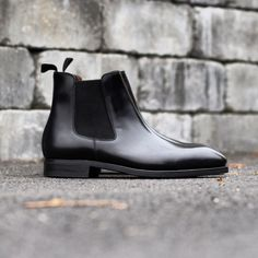 http://chicerman.com  skolyx:  Black chelsea boots on last 915 with Vibram (full rubber) sole. Part of our fall/winter collection that will arrive in about 14 days. Pre-order is possible through our webshop. skolyx #mensshoes #menswear #classicshoes #shoes #shoestagram #shoeporn #mensfashion #shoecare #saphir #yanko #last915 #chelsea #stockmodel #fw1516  #menshoes