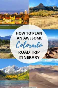How to Plan an Awesome Colorado Road Trip | Wondering where to go on your Colorado road trip? This Colorado road trip itinerary (with maps!) has the best stops in Colorado. This guide shows day-by-day where to go in Colorado for beautiful views including bucket list locations in Colorado like its 4 National Parks, Scenic Byways, and the best activities and historic towns. Use this guide for the best Colorado road trip tips, too, including where to stay, hike, and stop for a perfect road trip in