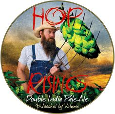 Wow, what a beautiful #craftbeer label! Look at those hops -- bigger than a watermelon!