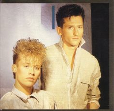 Another photo of my two favourite guys from kajagoogoo! 80's freak me - Definitely prefer nick beggs! ;) haha   Stuart Neale & Nick Beggs