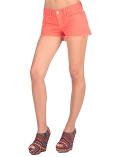 j brand 1046 Low Rise Short in Tangerine $95