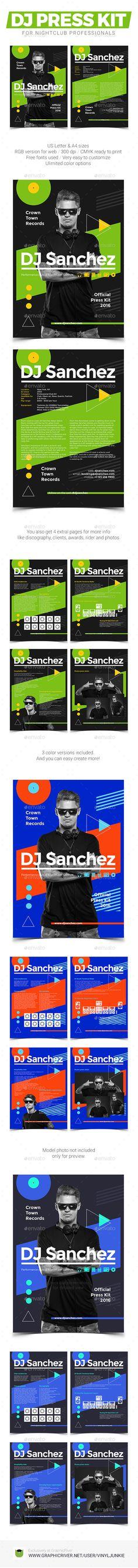 ProDJ - DJ Press Kit / DJ Resume / DJ Rider PSD Template Press