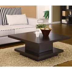 WAKIAKA PAGODA COFFEE TABLE. THESE MODERN COFFEE TABLES ARE GREAT FOR TYING TOGETHER LIVING ROOM FURNITURE. EACH TABLE FEATURES A SOLID WOOD...- Click image twice for more info - See a larger selection of square coffee tables at http://zcoffeetables.com/product-category/square-coffee-tables/ - home, home decor, home ideas, home furniture, office furniture, table, gift ideas, living room, patio,garden, outdoor living