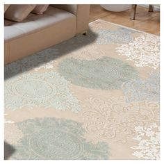 You'll love the Cream & Blue Floral Area Rug at Wayfair - Great Deals on all Rugs  products with Free Shipping on most stuff, even the big stuff.