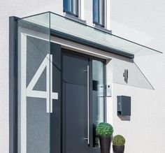 Glasvordach und Seitenwindschutz Duravento-V01542-K