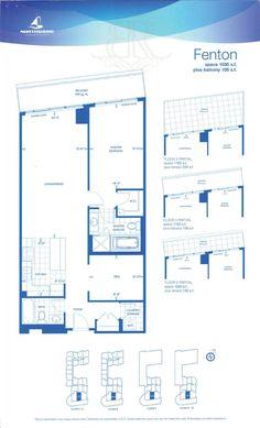 1 Hurontario Street - Floor Plans - 1 Bedroom & Den