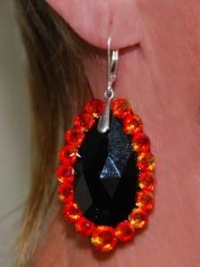Dance partners Latin costume part 2.  Earrings.  All stones are Swarovski