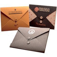 Kraft string & button envelope folders from Jam Paper.
