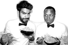 Rahul Kohli and Malcolm Goodwin, iZombie Izombie Cast, I Zombie, Lady And The Tramp, The Cw, Man Crush, Make Me Smile, Movies And Tv Shows, Favorite Tv Shows, Movie Tv