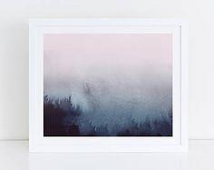 Horizontal Wall Art, Printable Abstract Art, Pink Blue Print, Horizontal Print, Large Art Print, 30x20 Print, Abstract Art, Bedroom Print