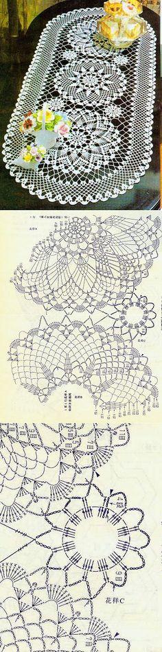 для дома: салфетки, скатерти, покрывала, пледы | Crochet, Crochet doilies and Crochet tablecloth