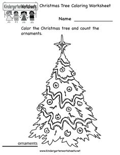 math worksheet : kindergarten christmas coloring worksheet printable  christmas  : Kindergarten Christmas Worksheets Printables