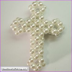 Beaded Cross, (Click where it says, (Learn how to make this beaded cross) for a free written tutorial.