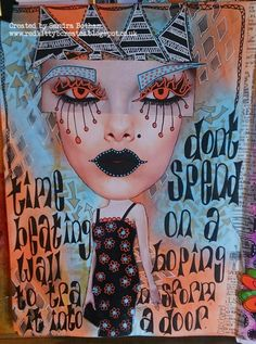 Dyan Reaveley blog  - guest designer Sandra Botham and  some of her journal pages...