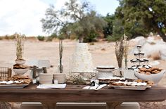 rustic dessert table wedding - Google Search