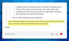 So basically, Canada and America are Sam and Dean Winchester, respectively? <-- Dat comment tho