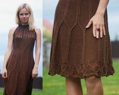 Шелковое платье «Шоколад» | Шкатулочка для рукодельниц