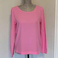 UNIQLO pink long sleeve top So cute! Pink long sleeve top from Uniqlo. 80% rayon 20% polyester. UNIQLO Tops