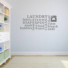 Laundry Word Cloud Wall Sticker