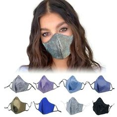 """Protective Glitz n Glam"" Mask for Sale in Los Angeles, CA - OfferUp Masque Anti Pollution, Virus, Paper Mask, Respirator Mask, Protective Mask, Masks For Sale, Carbon Filter, Fashion Face Mask, Mouth Mask"