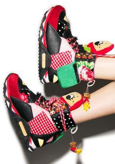 Irregular Choice Burger Off Sneaker Boots   Dolls Kill