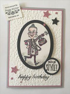 Stampin up , you've got. Style , sternenstanze , Birthday blossoms , Geburtstag, Design Peggy Müller