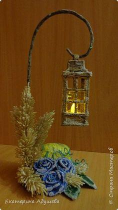 Рождественский фонарь из джута