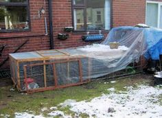 Winter Rabbit Care - Rabbit Hutches in Winter. How to repair hutches, how to insulate them, and food and water tips. #rabbits #winter