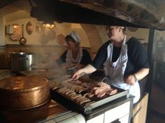 Two of the hardest working ladies in Regensburg.the third is the lady who serves you, behind them! Griddle Pan, Third, Oven, Kitchen Appliances, Lady, Regensburg, Grill Pan, Cooking Tools, Kitchen Stove