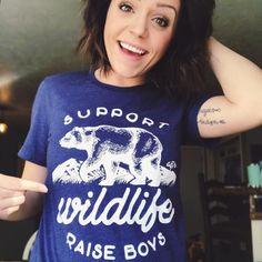 Support Wildlife Raise Boys Tee
