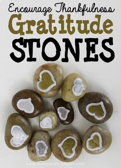 Encourage Thankfulness in your home with these simple to make Gratitude Stones. They are a great positive group activity or wonderful as a single gift. Thanksgiving Prayer, Thanksgiving Outfit, Gifts For Family, Encouragement, Thankful, Grateful, Attitude, Simple, Thanksgiving Appetizers