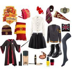 Gryffindor Girl - School Uniform by silverscreencliche on Polyvore