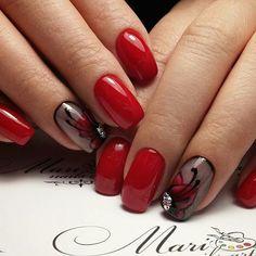 514 отметок «Нравится», 2 комментариев — Идеи маникюра ✌Ногти (@slider_like) в Instagram: «@mari_nails_art - #Красные #nailart #naildesign #manicure #beautifulnails #kodi #gelpolish…»
