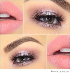 Amazing soft pink makeup idea
