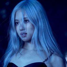 Blue Aesthetic, Kpop Aesthetic, Blackpink Jisoo, Min Yoonji, Rose Icon, Rose Park, Black Pink Kpop, Blackpink Photos, Park Chaeyoung