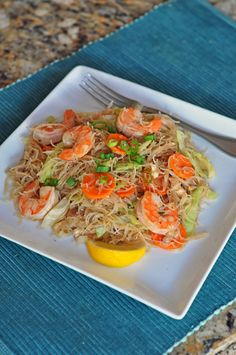 Made a whole bunch of this yesterday. All set for Fall Breakkkkkkkkk!    Pancit Bihon Recipe (Filipino Fried Rice Noodles)   Easy Recipes at RasaMalaysia.com
