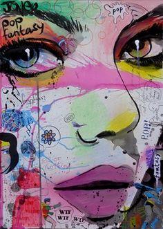 "Saatchi Online Artist Loui Jover; Drawing, ""pop fantasy"" #art"