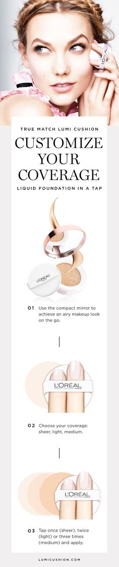 The brand new True Match Lumi Cushion Foundation. Liquid foundation that gives buildable coverage. Good for foundation touch ups on the go.
