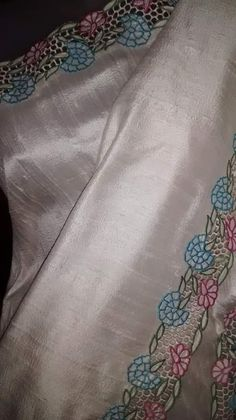 Whatsapp on 9496803123 to customise handwork and cutwork enbroidery dresses and sarees Saree Embroidery Design, Embroidery Suits Punjabi, Embroidery On Kurtis, Cutwork Embroidery, Hand Work Embroidery, Dress Neck Designs, Saree Blouse Designs, Cut Work Blouse, Cutwork Saree