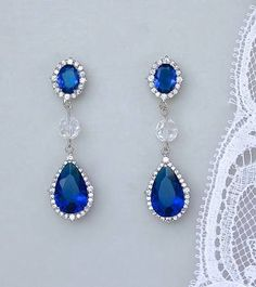 cobalt blue earrings for bridesmaids - Google Search
