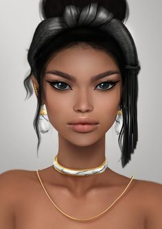 https://flic.kr/p/HeBPgw | Chanita Skin Applier @KUSTOM9 | Include 2 tones: toffee and chocolate. For Alisha and other Genesis mesh heads 2.0. Big THANKS for this amazing acessories to LaGyo (from C88)! <3