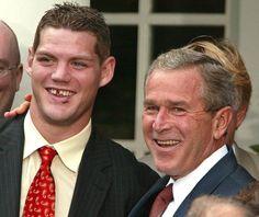 6c9e9e76217 President Bush New Jersey Devils defender Colin White. Paul Nisely · NHL